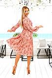 Довге жіноче плаття на гудзиках з рюшами 42-48р.(2расцв), фото 3