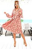 Довге жіноче плаття на гудзиках з рюшами 42-48р.(2расцв), фото 2