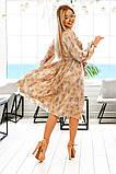 Довге жіноче плаття на гудзиках з рюшами 42-48р.(2расцв), фото 5