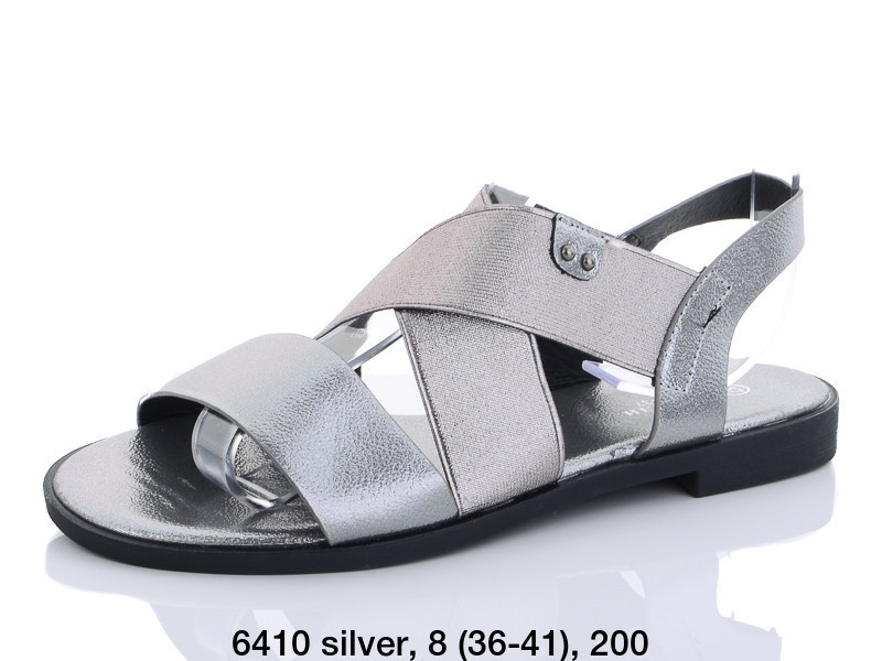 Босоножки Башили 6410 silver