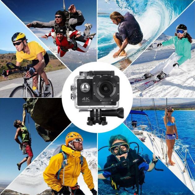 Экшн-камера Action Camera B5 WiFi 4K с водонепроницаемым боксом