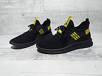 Мужские кроссовки сетка с чёрной подошвой OFF-WHITE в 4 цветах
