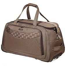 Дорожная сумка FILIPPINI большая 68х38х40 три колеса выдвижная ручка формованная коричневая  ксТ0046-1корб, фото 2