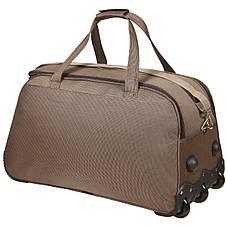 Дорожная сумка FILIPPINI большая 68х38х40 три колеса выдвижная ручка формованная коричневая  ксТ0046-1корб, фото 3