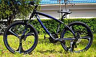 """Велосипед спортивный на литых дисках CORSO EVOLUTION 26"""", Чёрно-синий, рама алюминиевая 17"""", 95838"""