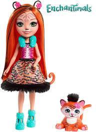 Кукла Энчантималс Тигренок Тензи и Тафт Tanzie Tiger Doll & Tuft FRH39