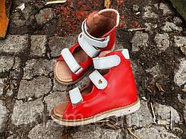 Кожаные ортопедические босоножки для девочек РОЗИТТА