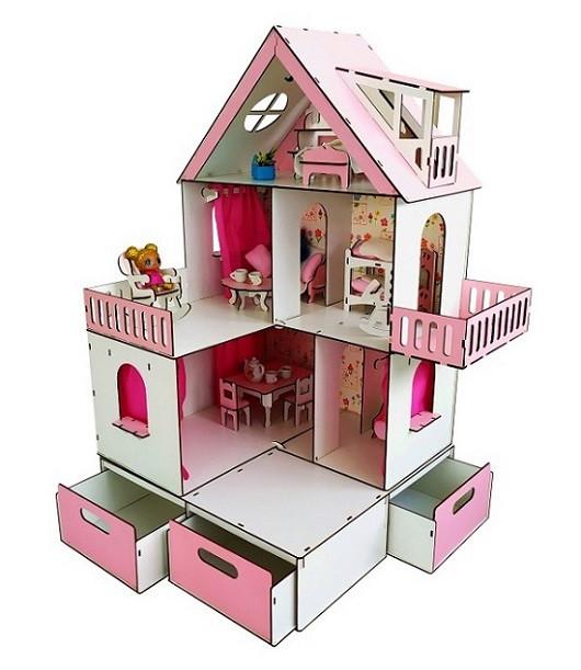 Домик для ЛОЛ с мебелью