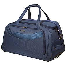 Дорожная сумка FILIPPINI малая формованная три колеса  57х29х33 выдвижная ручка  синяя ксТ0046-1синм, фото 2