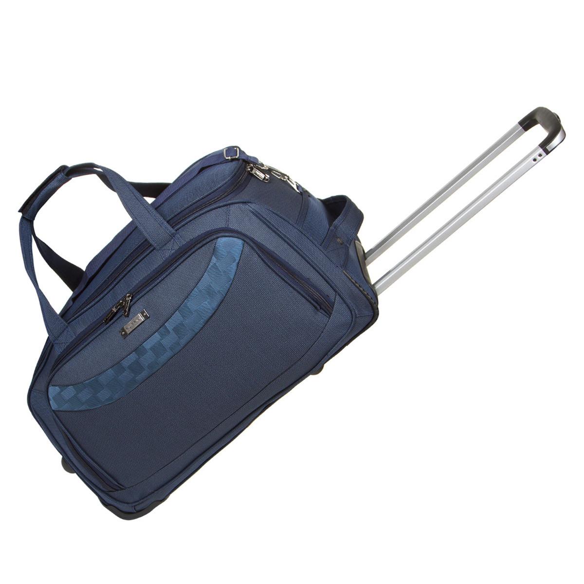 Дорожная сумка FILIPPINI малая формованная три колеса  57х29х33 выдвижная ручка  синяя ксТ0046-1синм