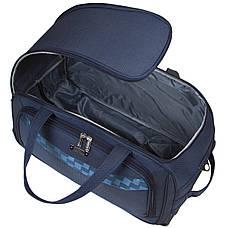 Дорожная сумка FILIPPINI малая формованная три колеса  57х29х33 выдвижная ручка  синяя ксТ0046-1синм, фото 3