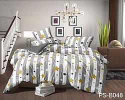 Полуторный комплект постельного белья с 3D эффектом из полисатина PS-B048