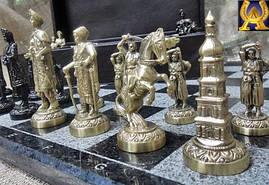 """Шахматы """"Запорожская сечь"""" в кейсе, фото 2"""