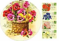 "Вафельная картинка ""Цветы. Винтаж"""