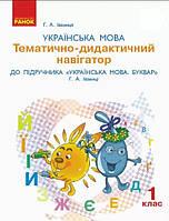 Українська мова та читання 1 кл Тематично-дидактичний навігатор (Іваниця)