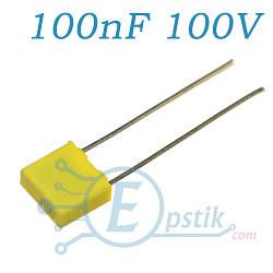 Конденсатор 100nF, (104J100), ±5%, 100V, CL23B