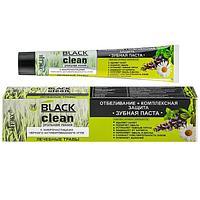 """Белорусская зубная паста """"Отбеливание и Защита"""" Витэкс Black Clean с частицами угля (травы)"""