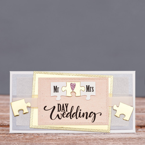 Открытка конверт Wedding day пазл