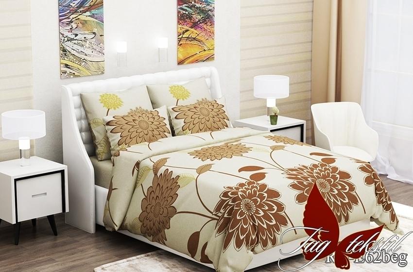 Полуторный комплект постельного белья - ранфорс RC-E62beg