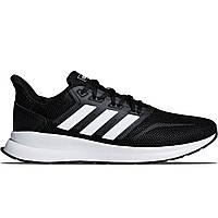 Мужские кроссовки Adidas Runfalcon Black/White Реплика, фото 1