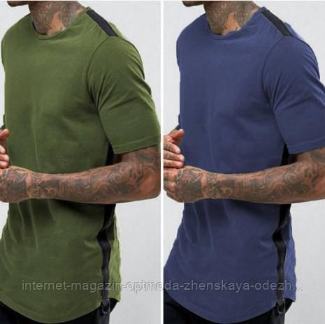 """Стильная и удобная мужская футболка """"Лонг"""""""