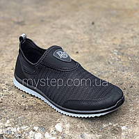 Кроссовки сетка черные Dago Style 29-03