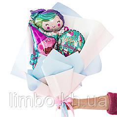 Букет из мини-фигур русалкой и Пеппой