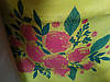 Эко сумка  хозяйственная с замочком цветочки на желт. фоне (спанбонд)