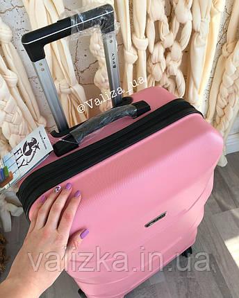 Большой пластиковый чемодан розовый, фото 2