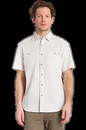 Рубашка мужская с коротким рукавом серо-зеленая Finn Flare S18-22011-509
