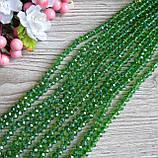 """""""Рондель"""" бусины 6 на 4 мм, прозрачные зеленые, 95 шт. - 22 грн, фото 2"""
