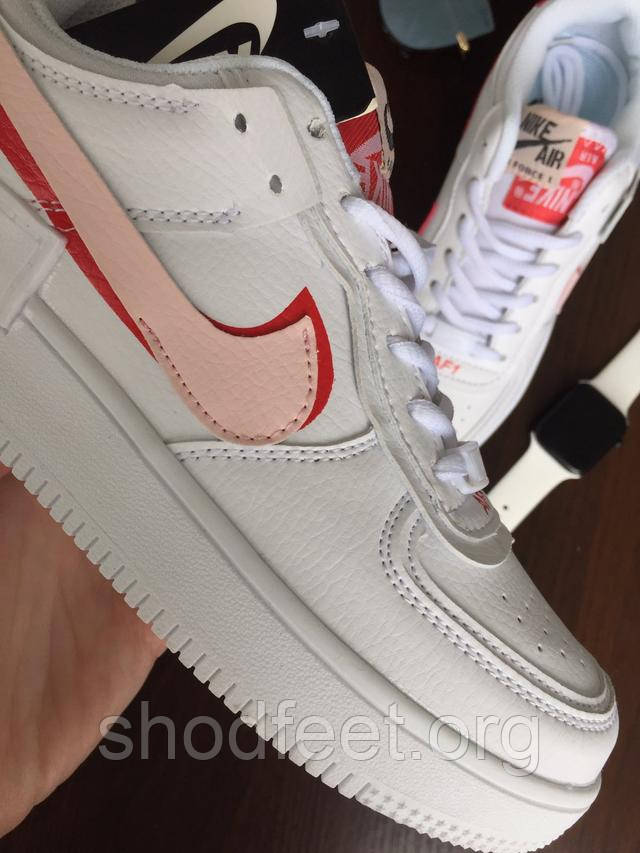 кроссовки air force 1 low white rouse фото