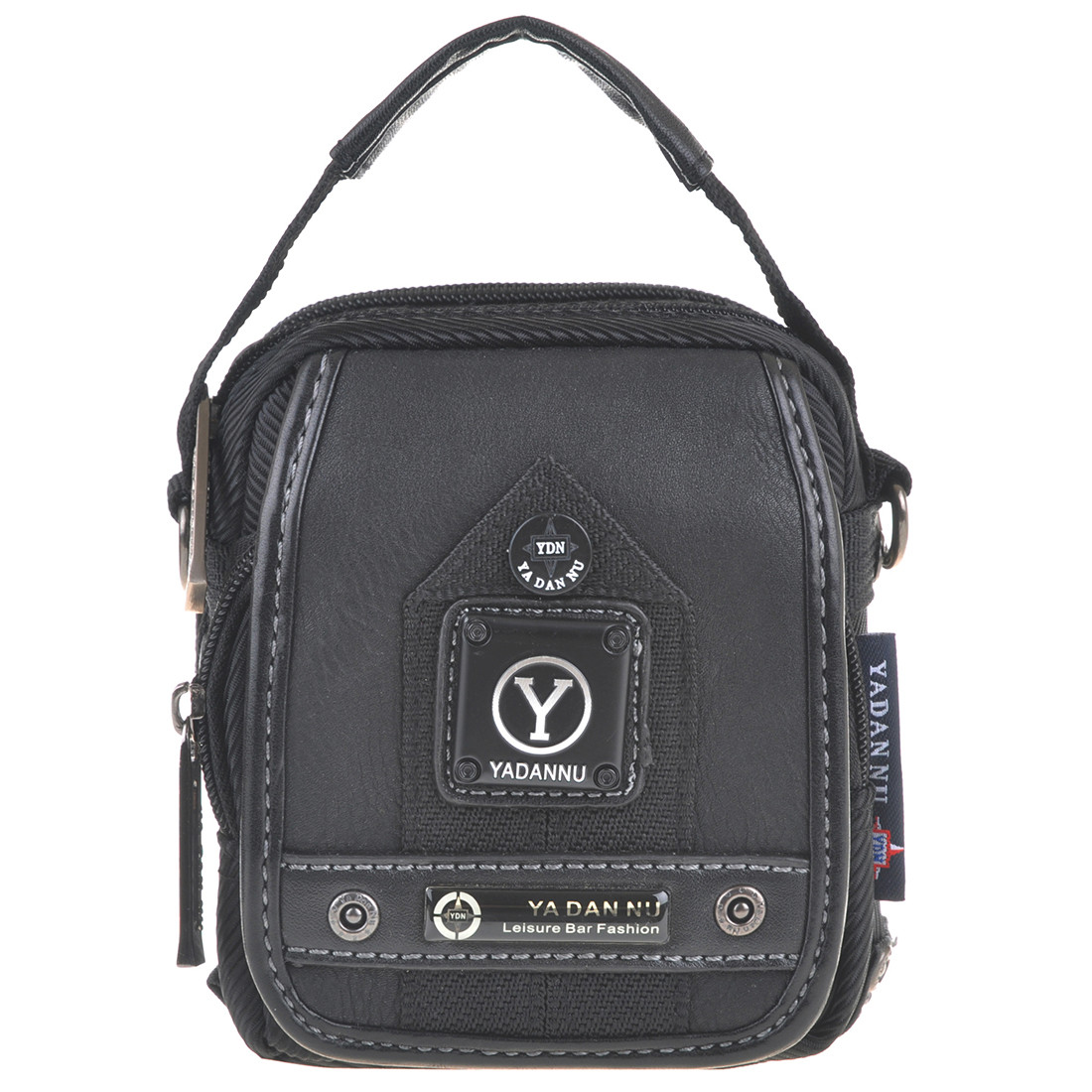 Сумка-кошелёк вертикальная YADAN   11х14х6 чёрная кс1026
