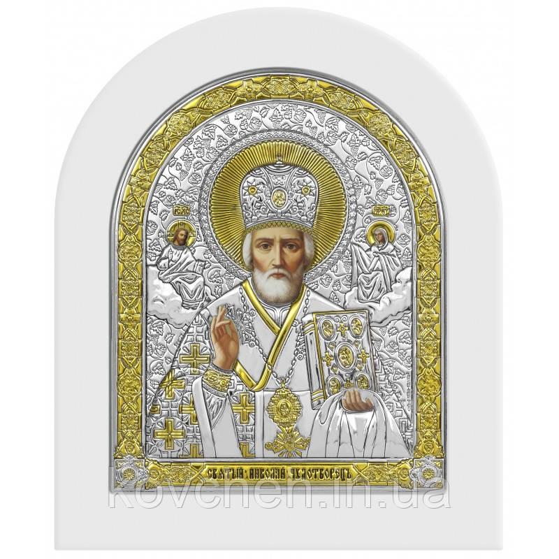 Ікона Святий Миколай Грецька Розмір-17,3x20,8 Срібна-925 Иконы Серебро Греция Лик
