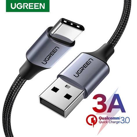 Оригинальный кабель UGREEN US288 Type-C Fast Charge 3A быстрая зарядка 60126 Black, фото 2