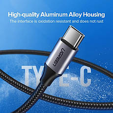 Оригінальний кабель UGREEN US288 Type-C Fast Charge 3A швидка зарядка 60126 Black, фото 3