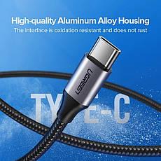 Оригинальный кабель UGREEN US288 Type-C Fast Charge 3A быстрая зарядка 60126 Black, фото 3