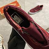🔥 Кроссовки Vans Old Skool Burgundy/White Ванс Олд Скул Красный 🔥 Вэнсы Олд Скул 🔥 Ванс женские кроссовки🔥, фото 5