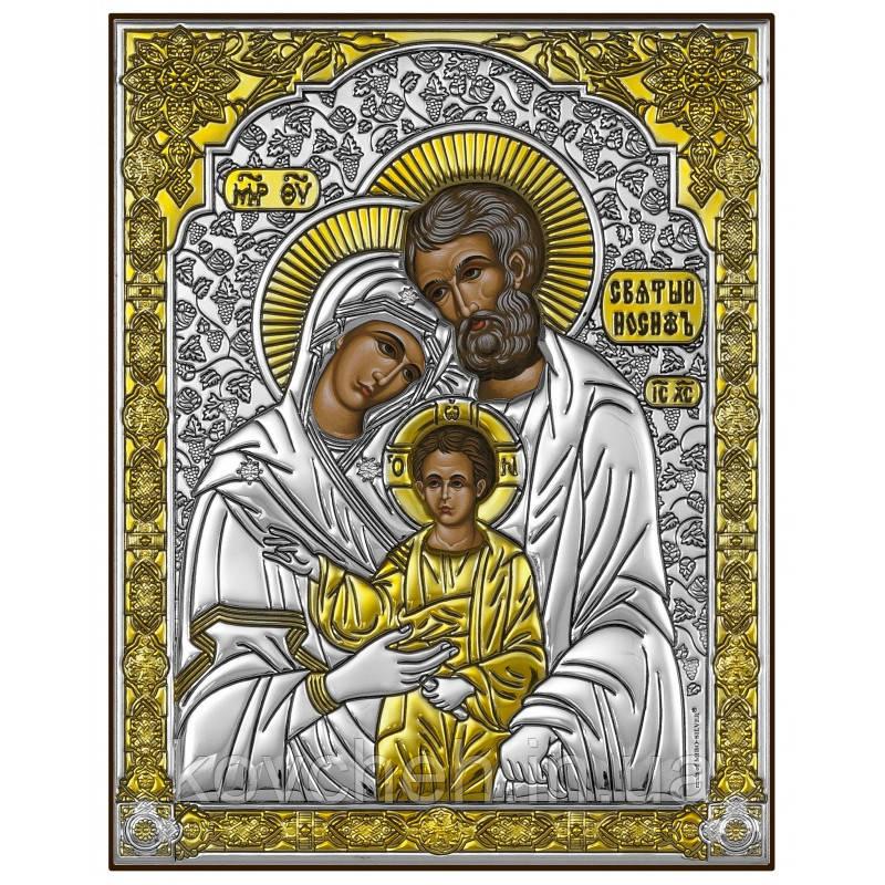 Ікона Святиа Родина Грецька Розмір-10x12,6 Срібна-925 Иконы Серебро Греция Лик