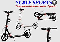 Самокат двухколесный Scale Sports SS-04 Черный металлический на дисковых тормозах