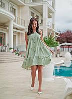 Летнее платье женское Креп жатка Размер 42 44 46 48 50 52 54 56 58 60 В наличии 4 цвета