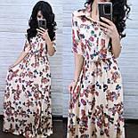 Сукня-сорочка в підлогу шовкове з квітковим принтом (в кольорах), фото 2