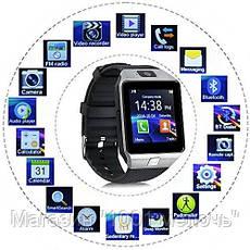 Смарт часы Smart Watch DZ09 (black,gold,white,silver), фото 3
