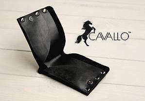 Мужской компактный кошелек из натуральной кожи без монетницы Cavallo™ Crazy Horse Classic, черный С0009