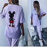 Костюм жіночий: футболка з міккі маусом і штани (в кольорах), фото 3