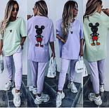 Костюм жіночий: футболка з міккі маусом і штани (в кольорах), фото 2