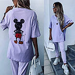 Костюм жіночий: футболка з міккі маусом і штани (в кольорах), фото 4