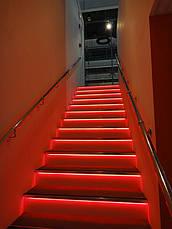 Лента светодиодная красная LED 3528 Red 60RW - 5 метров в силиконе, фото 2