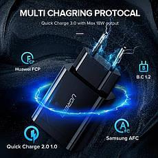 Зарядное устройство UGREEN CD122 18 вт Black QC Qualcomm 3.0 + оригинальный кабель UGREEN MicroUSB, фото 3