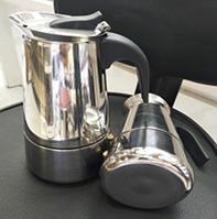 Гейзерная кофеварка из нержавеющей стали (индукция)- 4 чашки